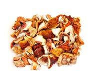 Cogumelos secados isolados Imagens de Stock