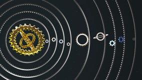 Cogwheel ηλιακό σύστημα Απεικόνιση αποθεμάτων