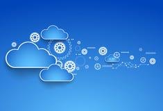 Cogwheel θέμα σύννεφων ελεύθερη απεικόνιση δικαιώματος