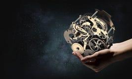 Cogwheel μηχανισμός διαθέσιμος Μικτά μέσα στοκ φωτογραφίες