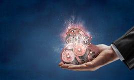Cogwheel μηχανισμός διαθέσιμος Μικτά μέσα στοκ εικόνες
