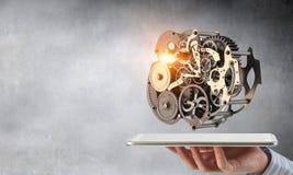 Cogwheel μηχανισμός διαθέσιμος Μικτά μέσα στοκ φωτογραφία