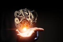 Cogwheel μηχανισμός διαθέσιμος Μικτά μέσα στοκ εικόνα