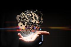 Cogwheel μηχανισμός διαθέσιμος Μικτά μέσα στοκ εικόνα με δικαίωμα ελεύθερης χρήσης