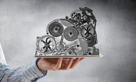 Cogwheel μηχανισμός διαθέσιμος Μικτά μέσα στοκ φωτογραφία με δικαίωμα ελεύθερης χρήσης