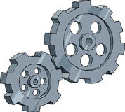 Cogwheel. Gear on a white background, vector Royalty Free Stock Photography