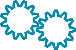 Cogwheel. Vector illustration of a cogwheels Stock Photography
