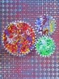 cogwheel abstrakcjonistyczny hologram Obrazy Royalty Free