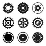 Cogwheel and bearings icons Stock Images