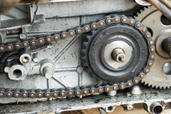 Cogwheel and chain Stock Image