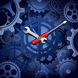 Cogwheel Clock Royalty Free Stock Photos
