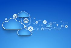 Cogwheel cloud theme. Stock Photos