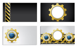 Cogwheel design business cards Royalty Free Stock Photo