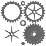 Cogwheel elements Royalty Free Stock Image