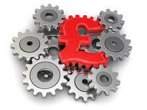 Cogwheel euro (clipping path included) Royalty Free Stock Photography