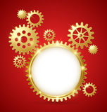 Cogwheel gear document template Stock Image