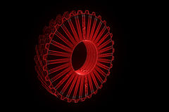 Cogwheel Gear in Hologram Wireframe Style. Nice 3D Rendering Stock Photo