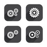 Cogwheel gear icons. Mechanism symbol. Royalty Free Stock Images