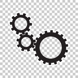 Cogwheel gear mechanism  icon. Flat design Royalty Free Stock Images