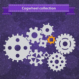 Cogwheel gear mechanism  settings icon set Royalty Free Stock Photo