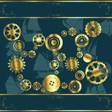 Cogwheel gears. Abstract background with cogwheel gears Royalty Free Stock Images