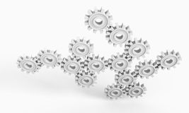 Cogwheel gears Royalty Free Stock Images