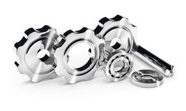Cogwheel gears and ball bearing Stock Image
