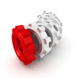 Cogwheel gears group on white background Stock Photo