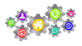 Cogwheel icon illustration Stock Image