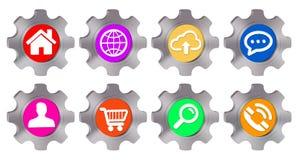 Cogwheel icon illustration Stock Photo