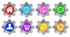Cogwheel icon illustration Royalty Free Stock Images