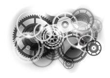Cogwheel industry. Grey abstract background with cogwheel Royalty Free Stock Photos