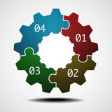 Cogwheel infographic template Royalty Free Stock Photos