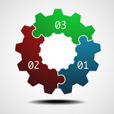 Cogwheel infographic template Royalty Free Stock Photo