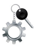 Cogwheel keyholder Royalty Free Stock Photos