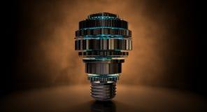 Cogwheel Lightbulb Shape Concept Stock Photo