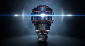 Cogwheel Lightbulb Shape Concept Royalty Free Stock Photos