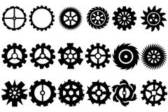 Cogwheel maszynowa przekładnia, set przekładni koła Zdjęcia Royalty Free