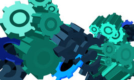 Cogwheel mechanics. Visual abstraction. Royalty Free Stock Photography