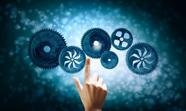 Cogwheel mechanism as teamwork concept Stock Photography