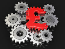 Cogwheel pound (clipping path included) Royalty Free Stock Photo