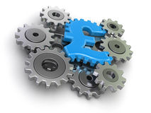 Cogwheel pound (clipping path included) Stock Image