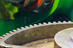 Cogwheel  production and service industrial machine Royalty Free Stock Photo