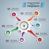 Cogwheel, przekładni ikona Biznesowy Infographics Obrazy Stock