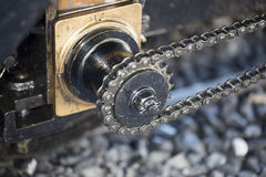Cogwheel rail mechanism royalty free stock photo