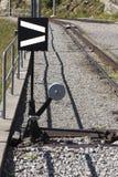 Cogwheel railway sidetrack Stock Images