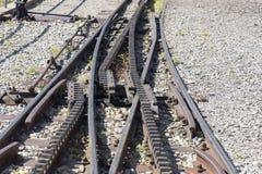 Cogwheel railway sidetrack Stock Photo