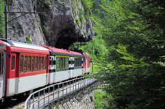 Cogwheel railway. Switzerland. Royalty Free Stock Image