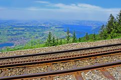 Cogwheel railway. Switzerland. Royalty Free Stock Photo
