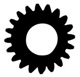 Cogwheel silhouette isolated on a white background Stock Photo